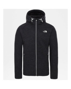 The north face zermatt full zip jacket tnf black heather