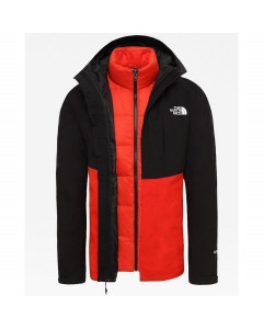 The north face mountain light triclimate jacket tnf black fiery red