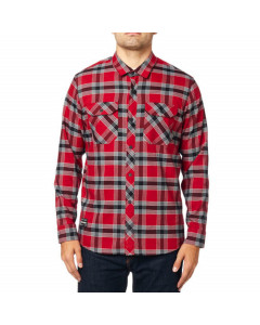 Fox racing fusion tech flannel shirt cardinal 2020