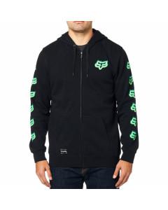 Fox racing flame head zip fleece black green 2020
