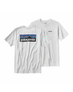 Patagonia men's p-6 logo cotton t-shirt white