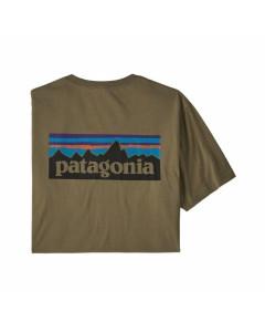 Patagonia p-6 logo organic t-shirt sage khaki 2020