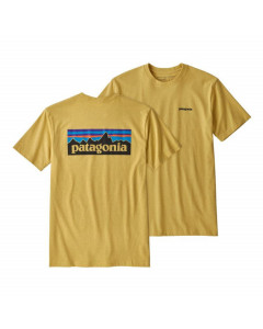 Patagonia p-6 logo responsibili tee surfboard yellow
