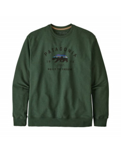 Patagonia arched fitz roy bear uprisal crew alder green