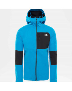 The north face impendor wimdwall hoodie hyper blue tnf black