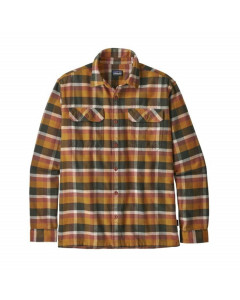 Patagonia l/s fjord flannel shirt observer wren gold