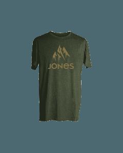 Jones snowboard truckee tee green heather t-shirt