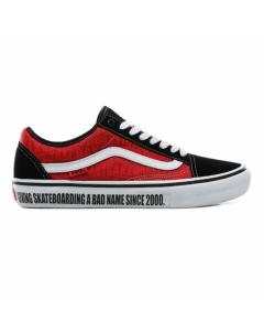 Vans x baker old skool pro black white red