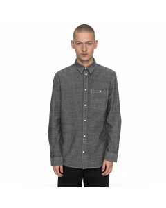DC SHOES ARROWOOD SHIRT BLACK CHAMBRAY CAMICIA FW 2018