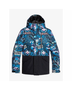 Quiksilver mission block youth jacket black bark to the moon 2020