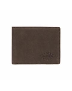 Quiksilver slim vintage wallet chocolate brown