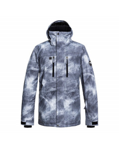 Quiksilver mission jacket grey simple texture fw 2019