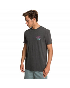 Quiksilver double stacked tee charcoal heather 2019