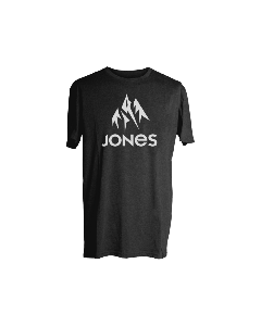 Jones snowboard truckee tee plain black t-shirt