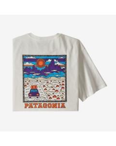 Patagonia summit road organic cotton t-shirt white