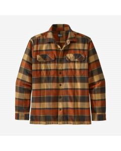 Patagonia l/s fjord flannel shirt plots burnished red