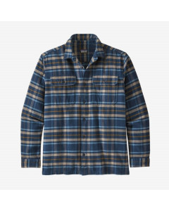 Patagonia l/s fjord flannel shirt independence new navy
