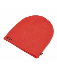 Oakley fine knit beanie poppy red