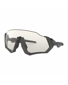 Oakley flight jacket grey ink clear blk ird photo activated