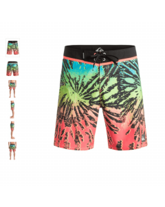 QUIKSILVER GLITCHED 18'' FIERY CORAL SS 2016 COSTUME