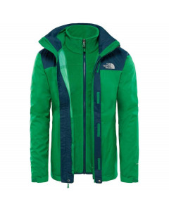 The north face evolve II triclimate jacket primary green kodiak blue