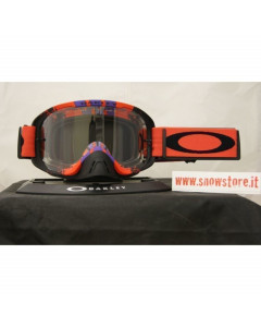 OAKLEY O2 MX PINNED RACE RED PURPLE CLEAR MASCHERA