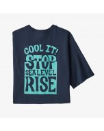 Patagonia stop the rise responsibili tee new navy