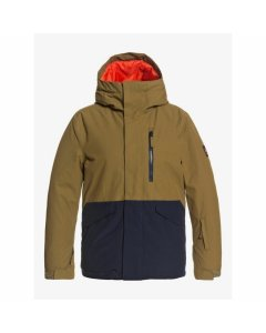 Quiksilver mission solid youth jacket military olive 2021