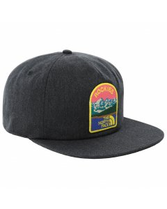 The north face embroidered earthscape ball cap tnf dark grey heather