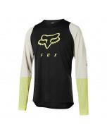 Fox racing defend ls foxhead jersey black yellow mtb