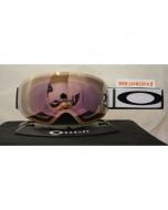 Oakley flight deck xm matte white prizm hi pink iridium maschera