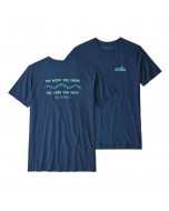 Patagonia the less you need organic cotton t-shirt stone blue