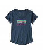 Patagonia w's solar rays '73 organic cotton scoop t-shirt stone blue
