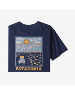 Patagonia summit road organic cotton t-shirt classic navy