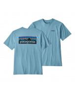 Patagonia p-6 logo responsibili tee break up blue