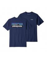 Patagonia p-6 logo responsibili tee classic navy
