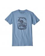Patagonia nut vs. piton organic cotton t-shirt railroad blue