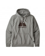 Patagonia live simply winding uprisal hoody gravel heather