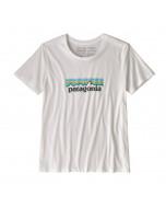 Patagonia w's pastel p-6 logo organic cotton t-shirt white