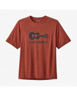 Patagonia capilene cool daily graphic shirt live simply guitar roots red x-dye