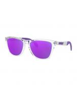 Oakley frogskins mix polished clear violet iridium polarized