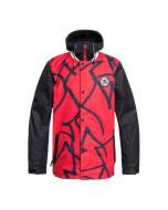 Dc shoes dcla jacket racing red hieroglyphic print 2020