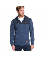 Quiksilver keller block blue nights heather hoodie 2020