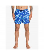 Quiksilver dye check 15'' volley beach shorts dazzling blue 2020