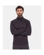 The north face first layer impendor 3/4 zip shirt weathered black