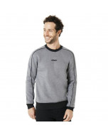 Oakley crew neck fleece piping detail hoodie athletic heather grey fw 2019