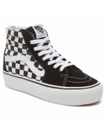 Vans sk8-hi platform checkerboard black white