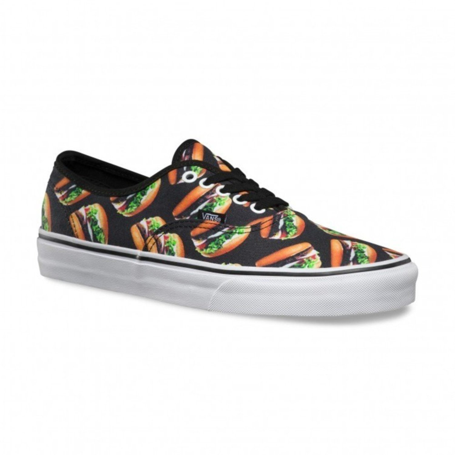 a61b661207 VANS AUTHENTIC LATE NIGHT BLACK BURGERS SHOES SS 2016 NEW 40 41 42 ...
